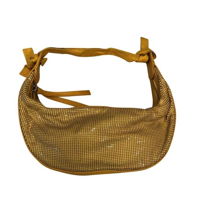 Yellow leather and metal Bag-0