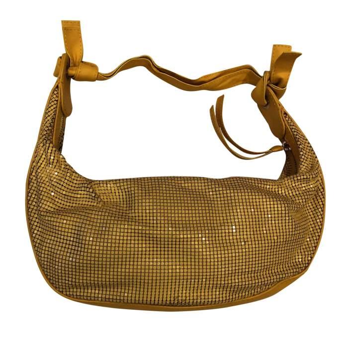 Yellow leather and metal Bag-2