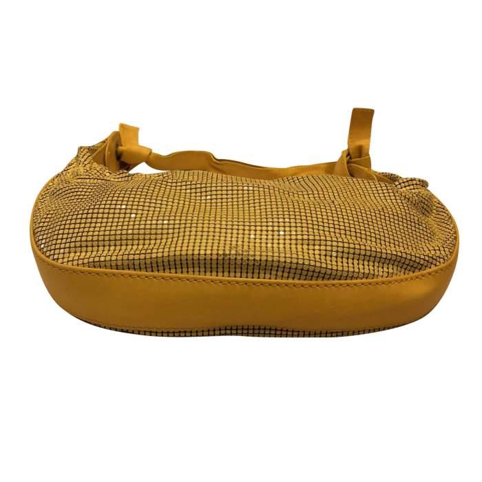 Yellow leather and metal Bag-4