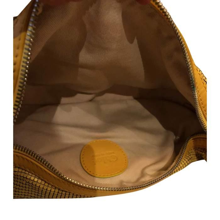Yellow leather and metal Bag-8