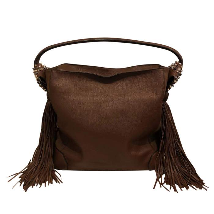 Leather and suede Bag-0
