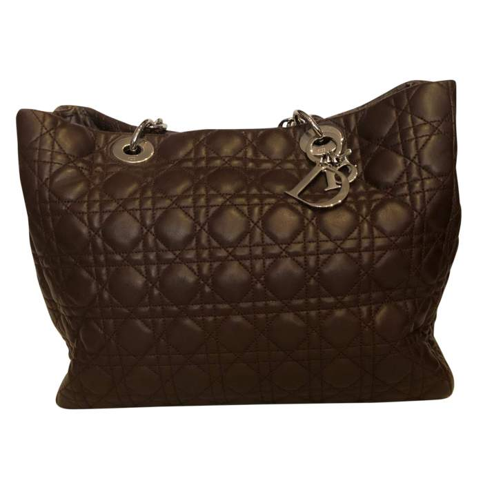 Chocolate quilted leather Bag-2
