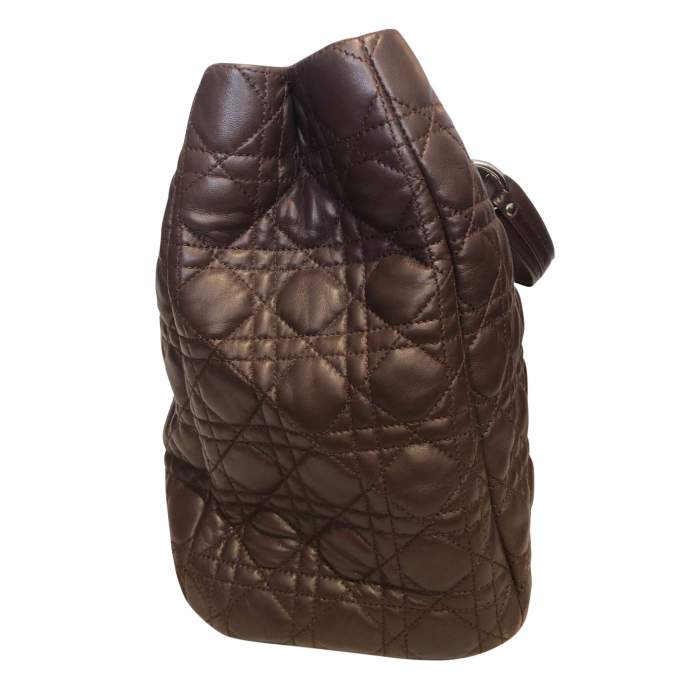 Chocolate quilted leather Bag-6