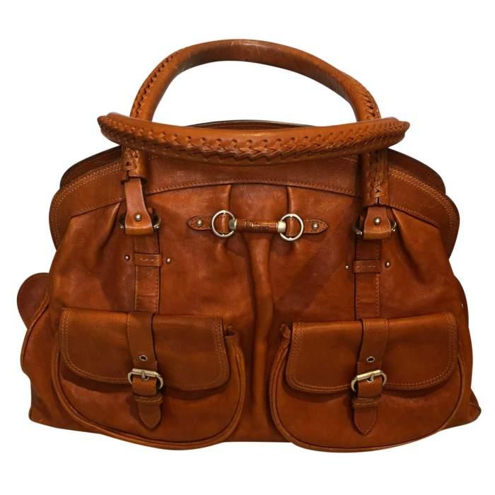 Large gold leather Bag-0