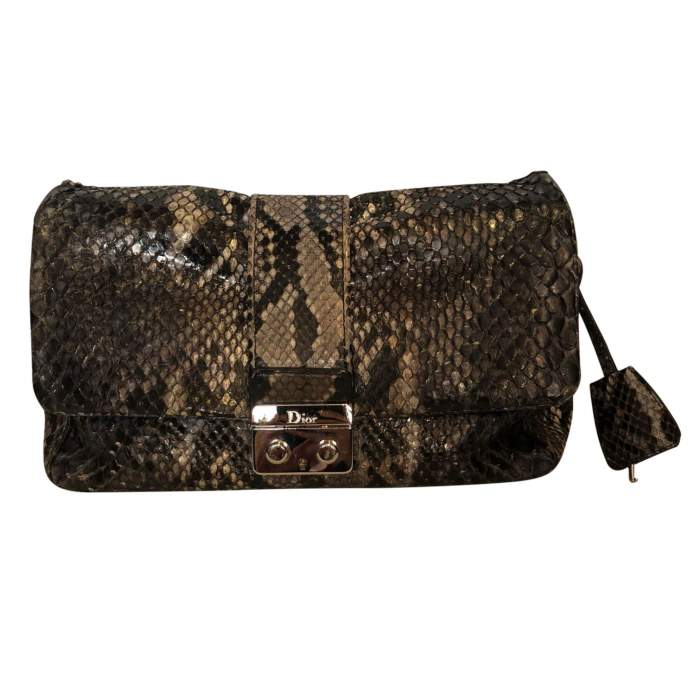 Black and gray python Bag-0