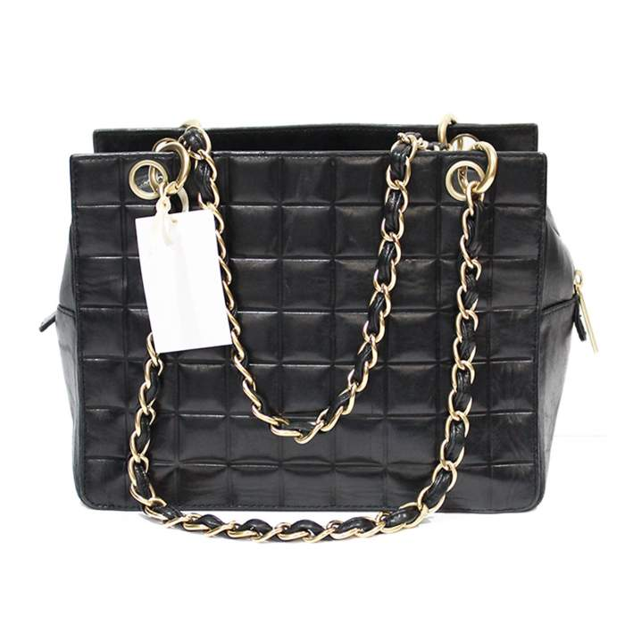 Mini black leather Bag-2