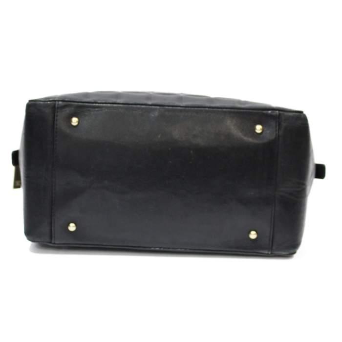 Mini black leather Bag-6