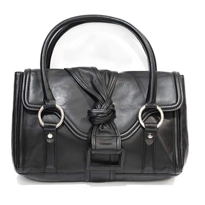 Black leather shoulder Bag-0