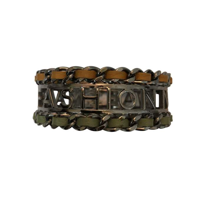 """Make fashion not war"" Bracelet-0"