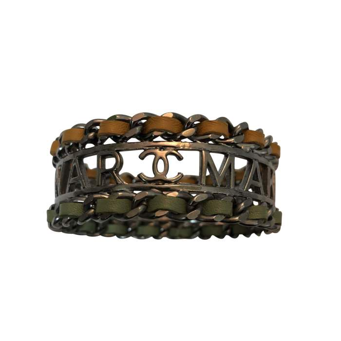"""Make fashion not war"" Bracelet-2"