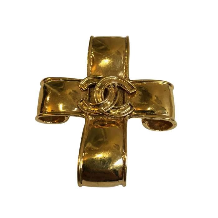 Vintage Gold metal Brooch-0