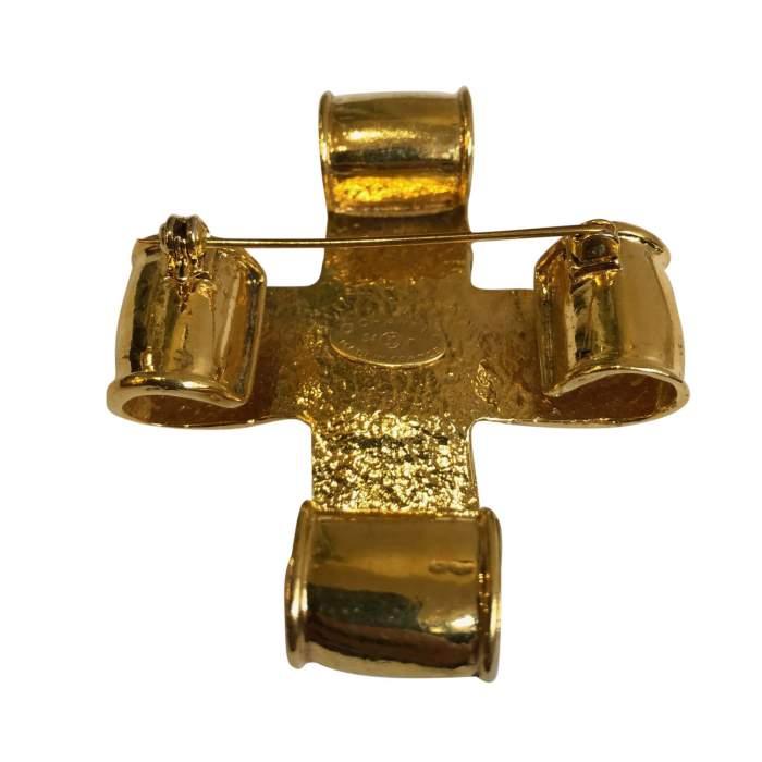 Vintage Gold metal Brooch-4