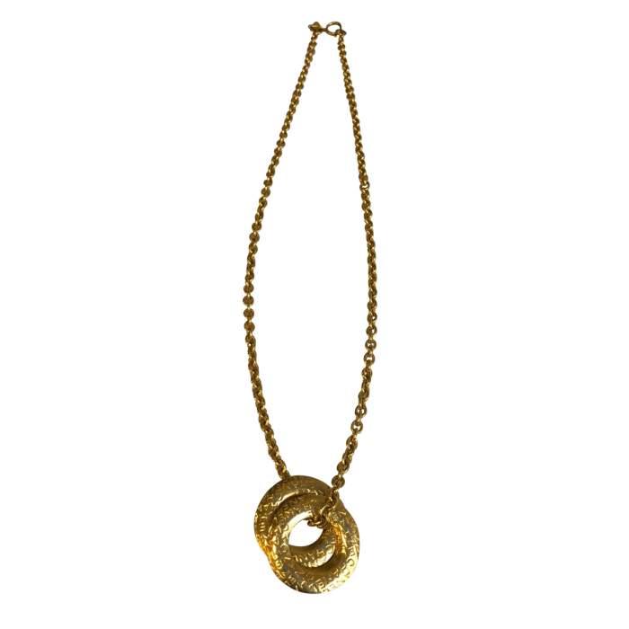 Vintage Gold metal Necklace-4