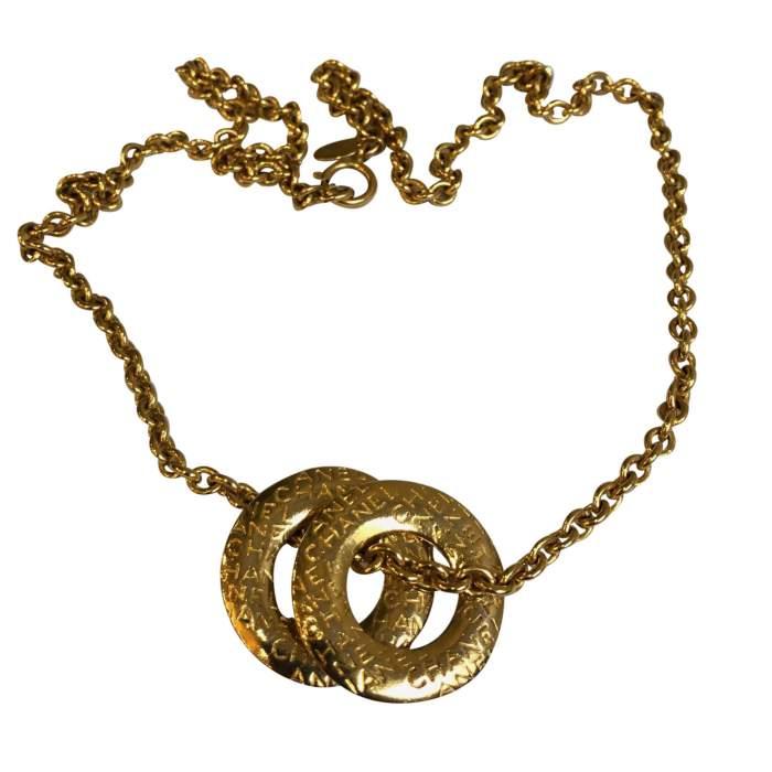 Vintage Gold metal Necklace-2