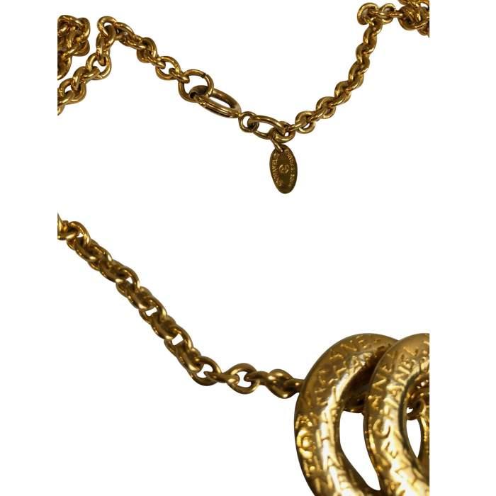 Vintage Gold metal Necklace-6