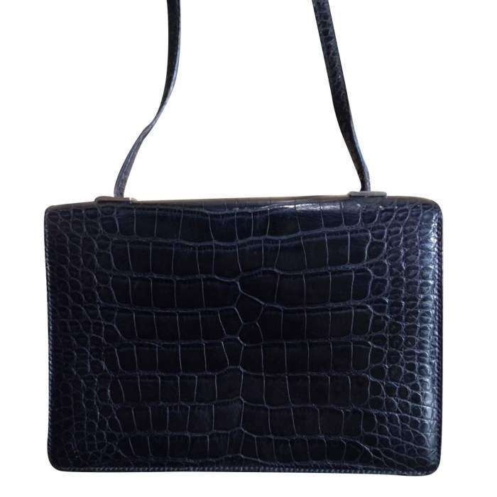 Vintage black alligator Bag -2