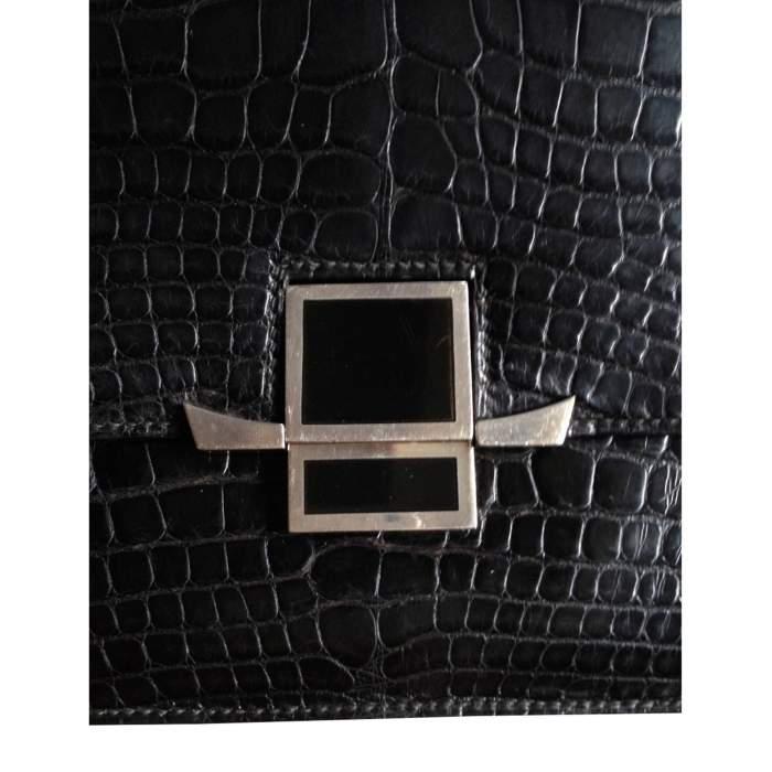 Vintage black alligator Bag -6