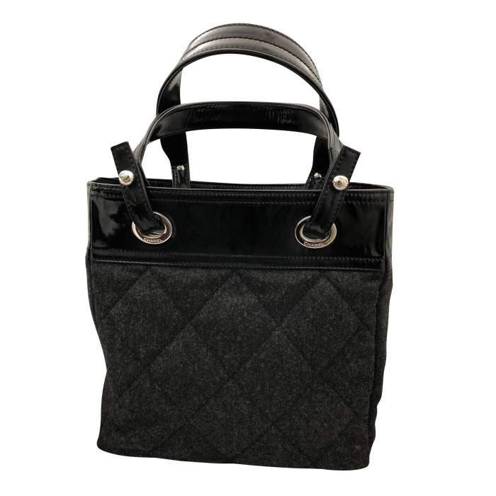 Charcoal gray shopping Bag-2