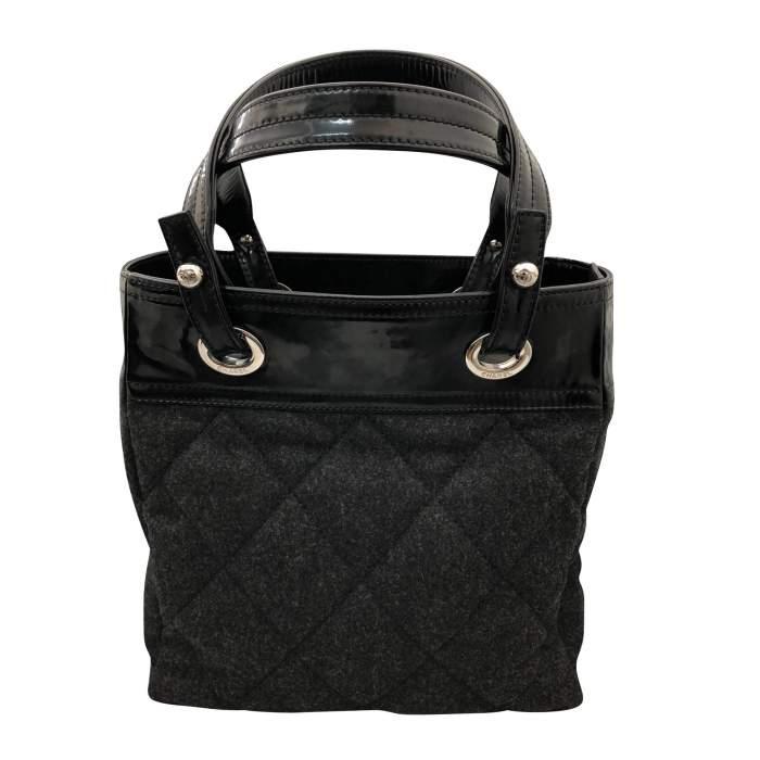 Charcoal gray shopping Bag-0