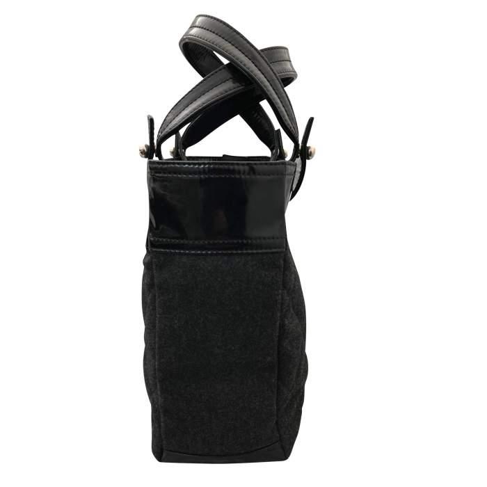 Charcoal gray shopping Bag-4