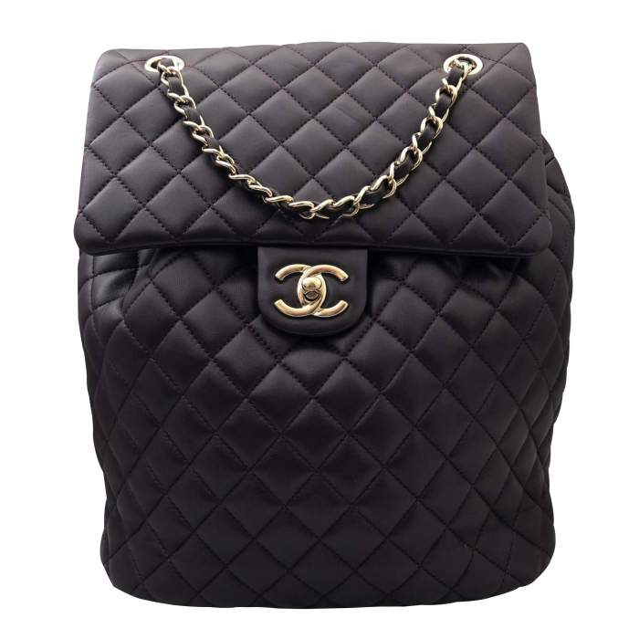 Quilted leather Backpack-0