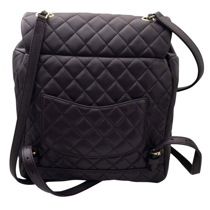 Quilted leather Backpack-4