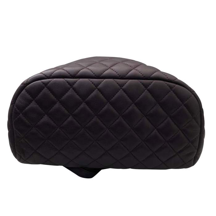 Quilted leather Backpack-6