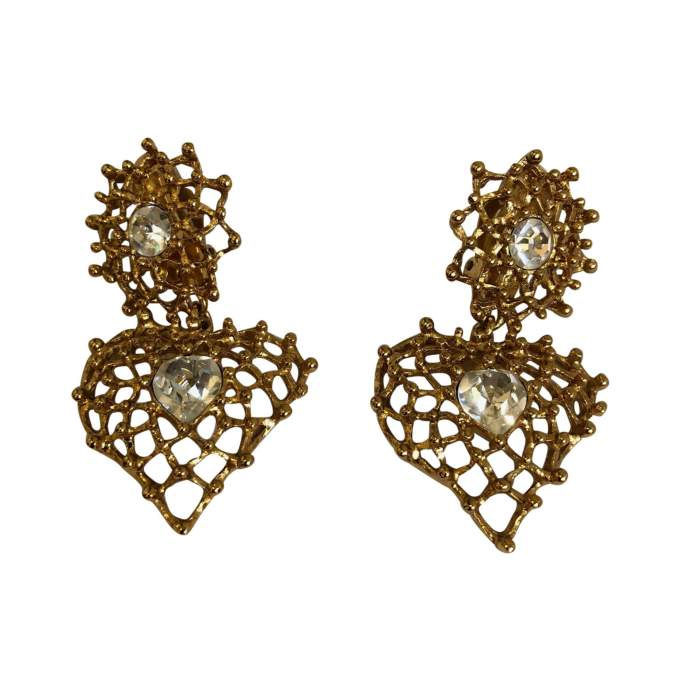 Vintage clip-on Earrings-0