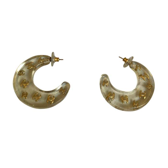 Vintage plexiglass Earrings-0