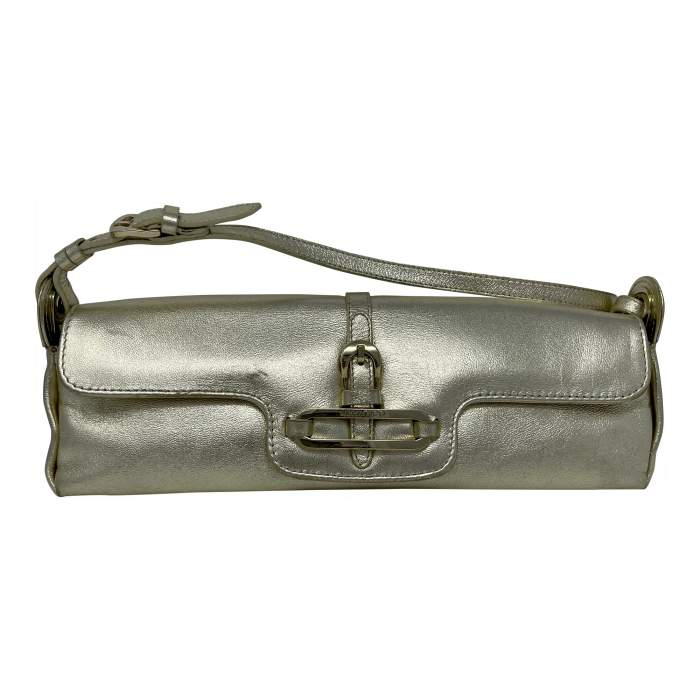 Cosmo Metallic Handbag leather Baguette -10