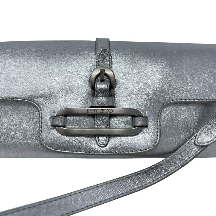 Cosmo Metallic Handbag leather baguette-8
