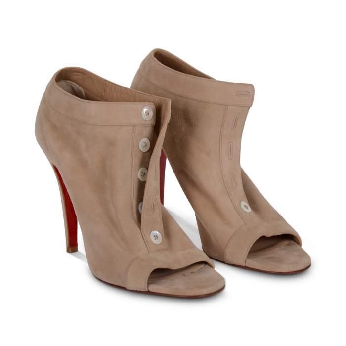 Suede open toe Shoes-0