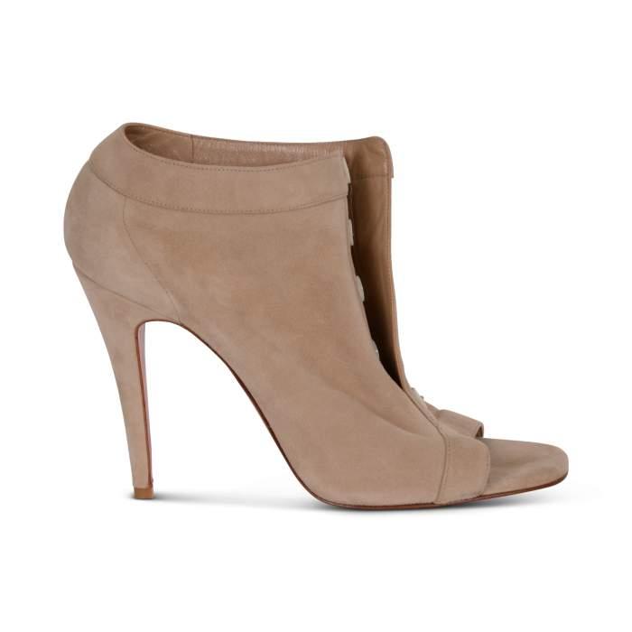 Suede open toe Shoes-6