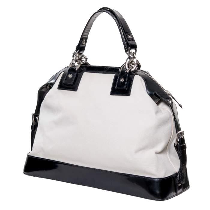 Leather & canvas Handbag -2