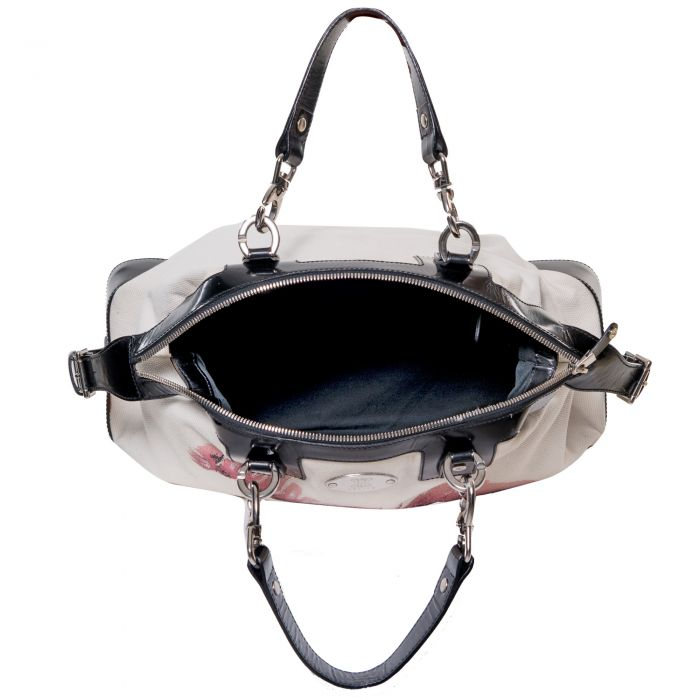 Leather & canvas Handbag -6