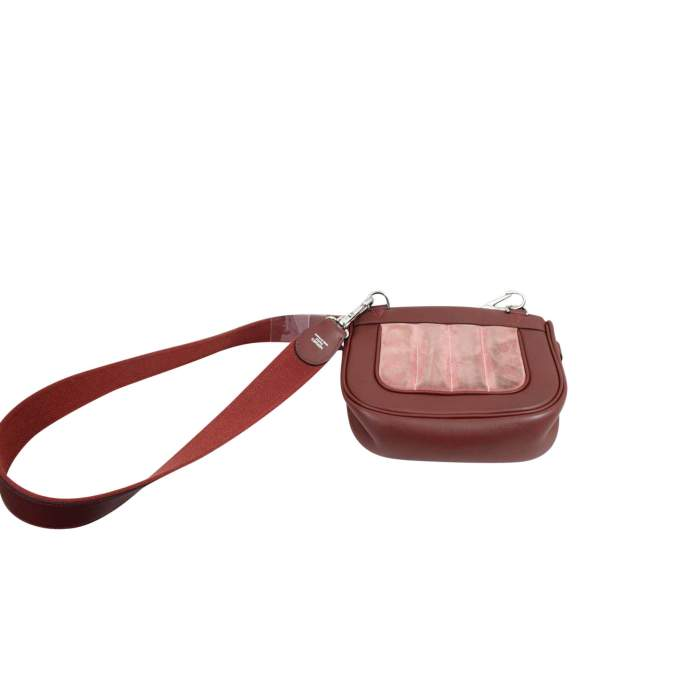 Berline Bag in burgundy swift Leather-4