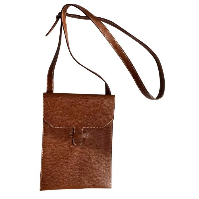 Camel Vintage Cross-Body Leather Pouch-0