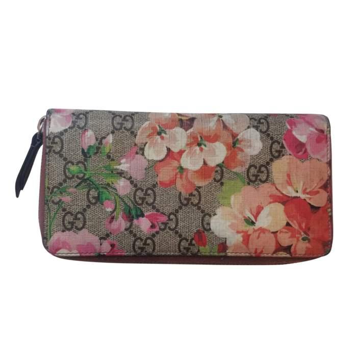 Monogram Floral Zip Wallet-2