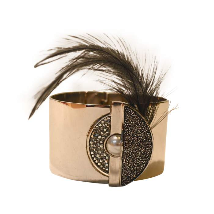 Removable feather cuff-0