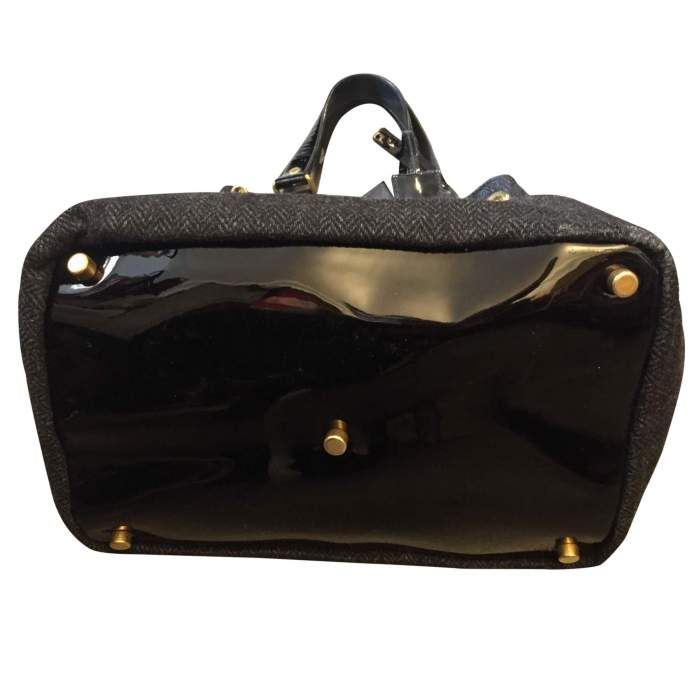 Wool and patent leather Bag -8