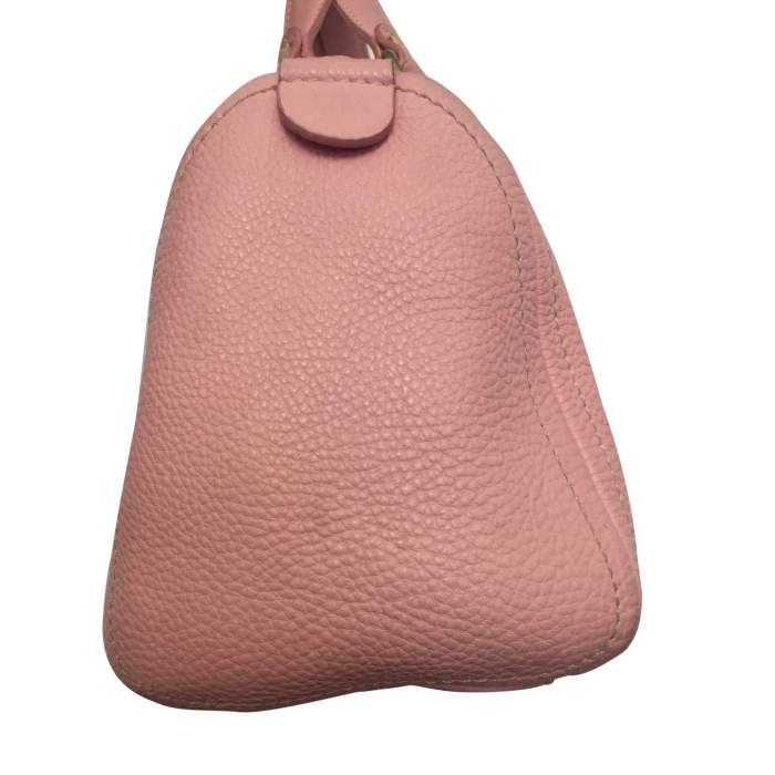 Pink leather hand bag-4