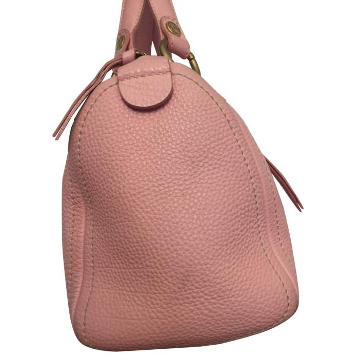 Pink leather hand bag-6