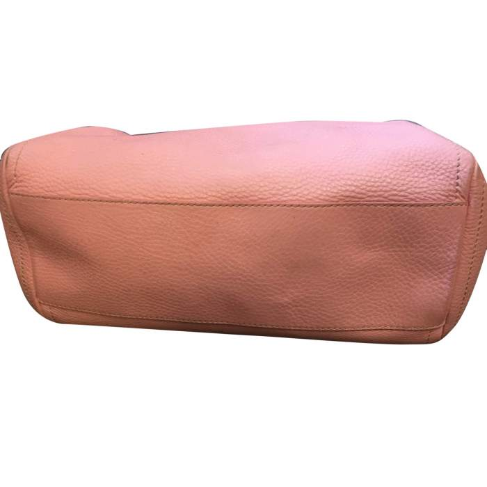 Pink leather hand bag-8