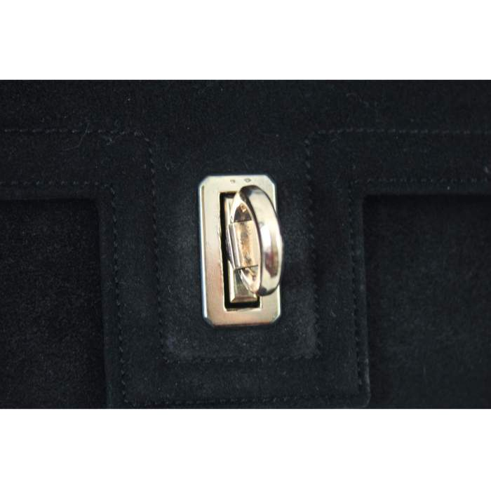 Vintage 40's mini Hermes Deer Leather Bag with 18k Gold Clasp-4