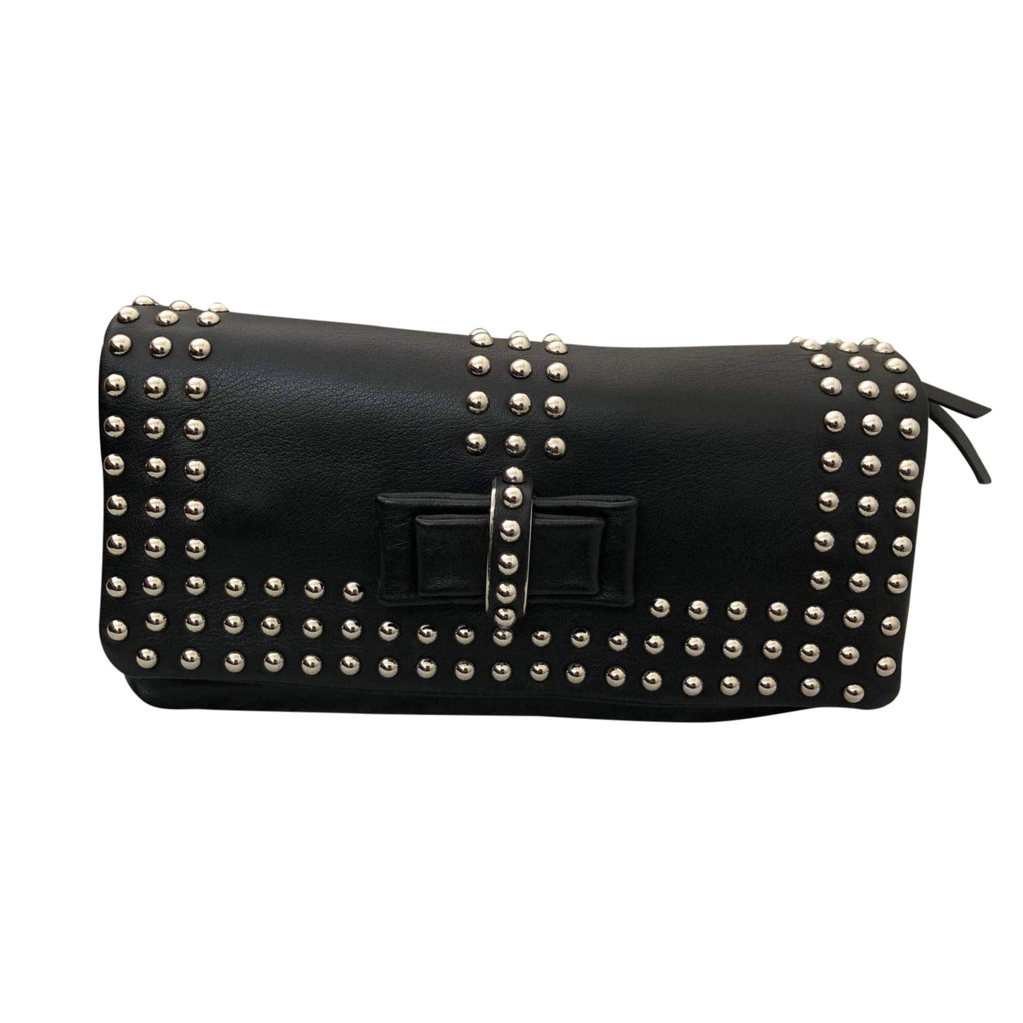 6d0bd440789 Christian Louboutin Black leather Clutch | The Chic Selection