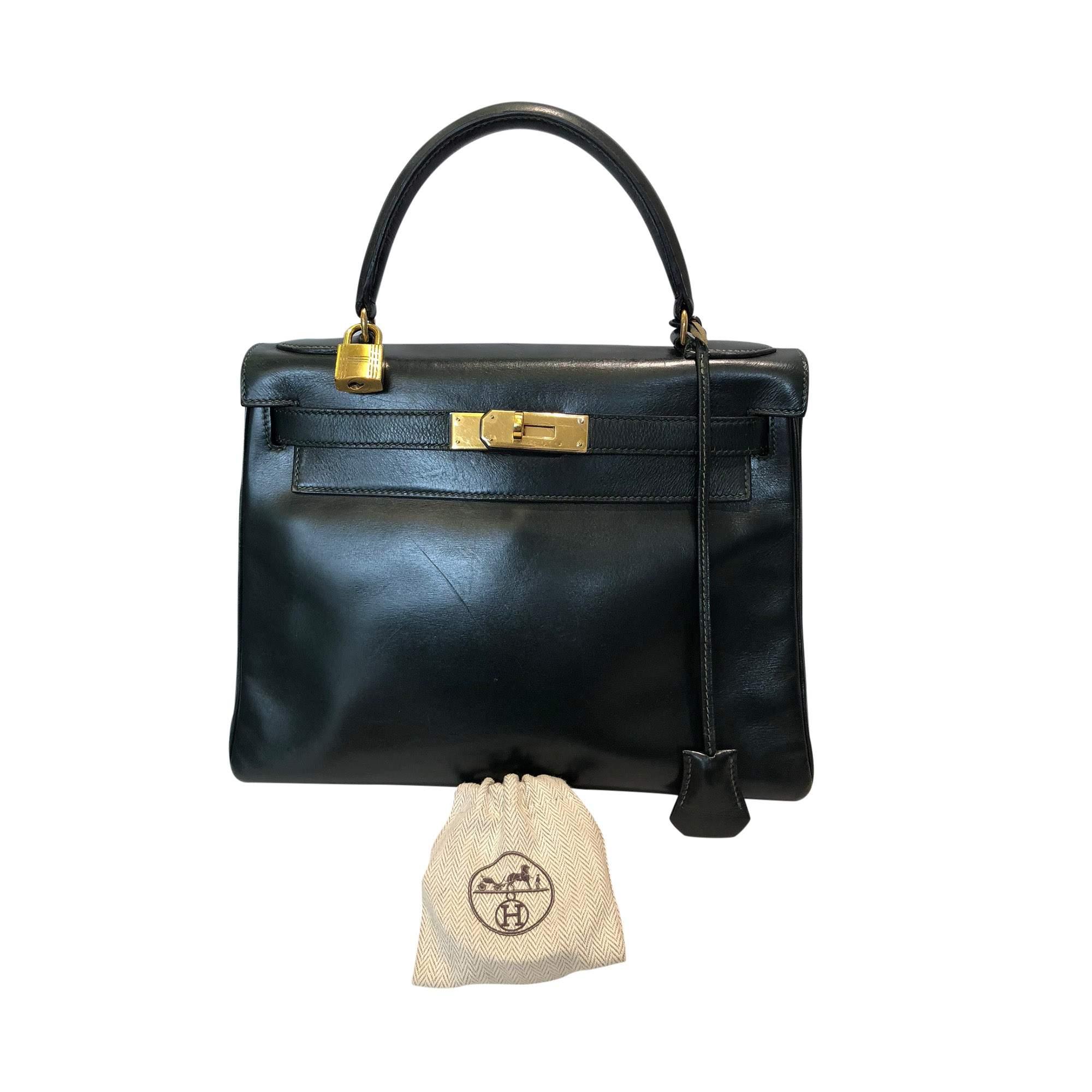 62b4911ed9 Hermes Vintage green Kelly 1988 Handbag