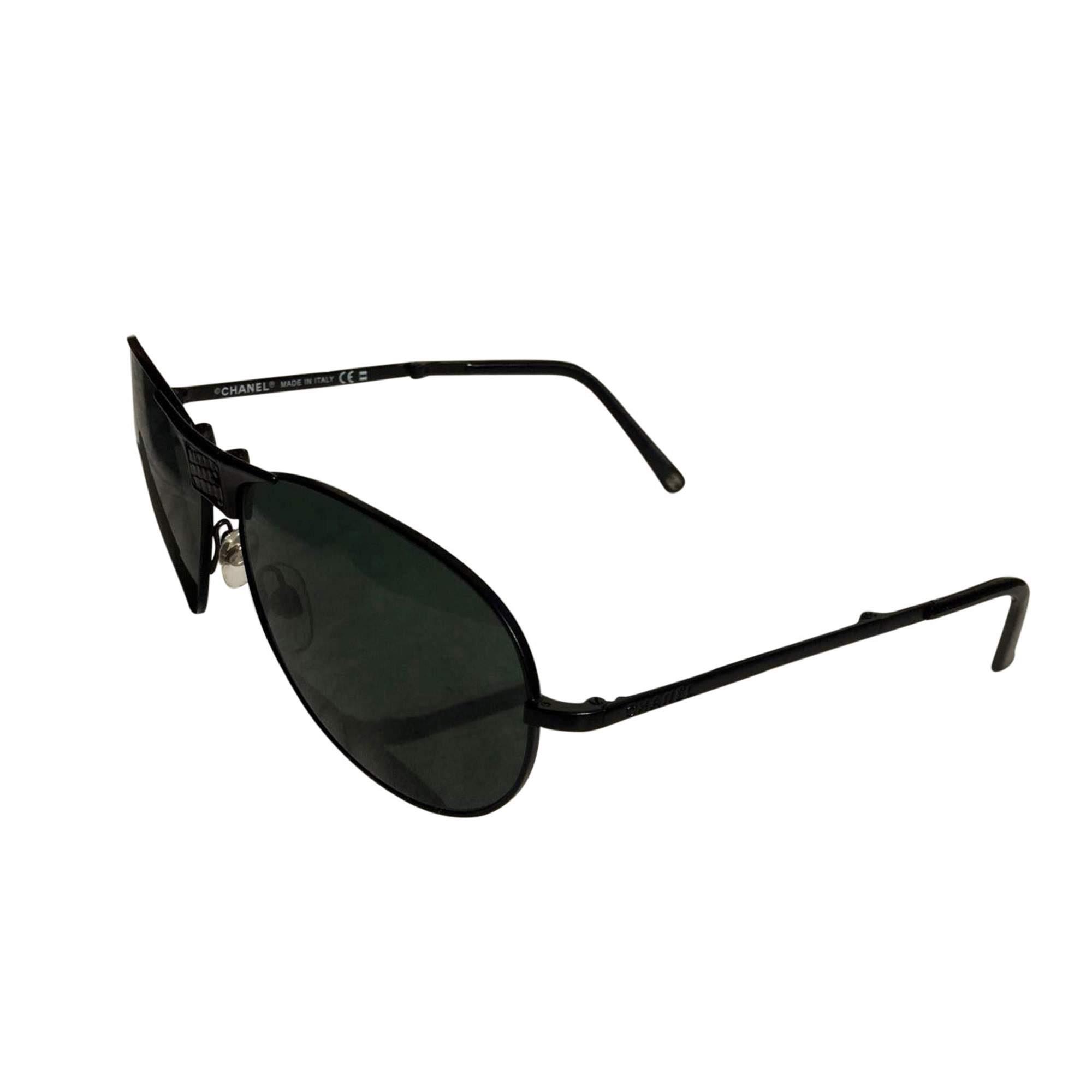 b90c3e09257 Chanel Black Sunglasses