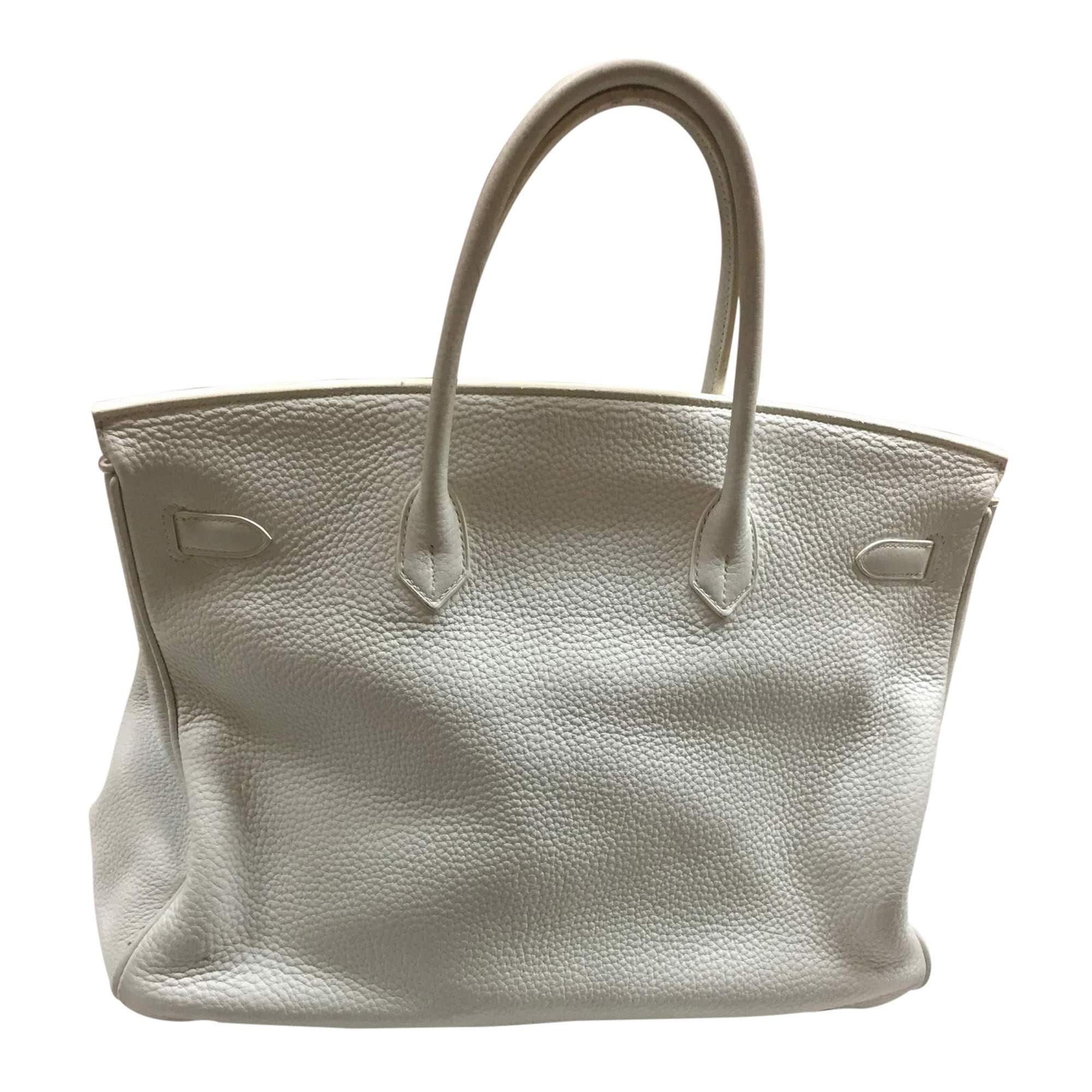 4ee0628d6c ... leather handbag dcb9b 4de69 cheap hermes white birkin 40 the chic  selection 55b55 3cd11 ...