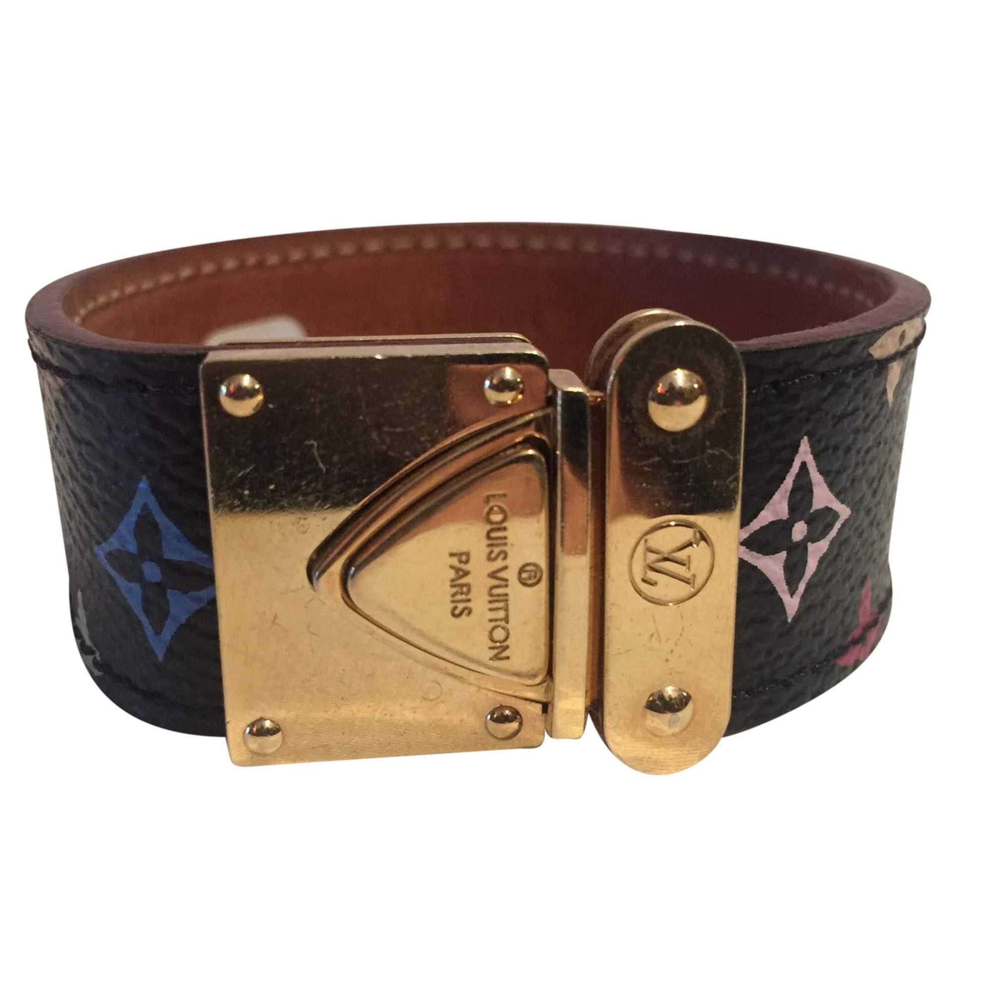 f3636a4562 Louis Vuitton Multicolored coated canvas Bracelet