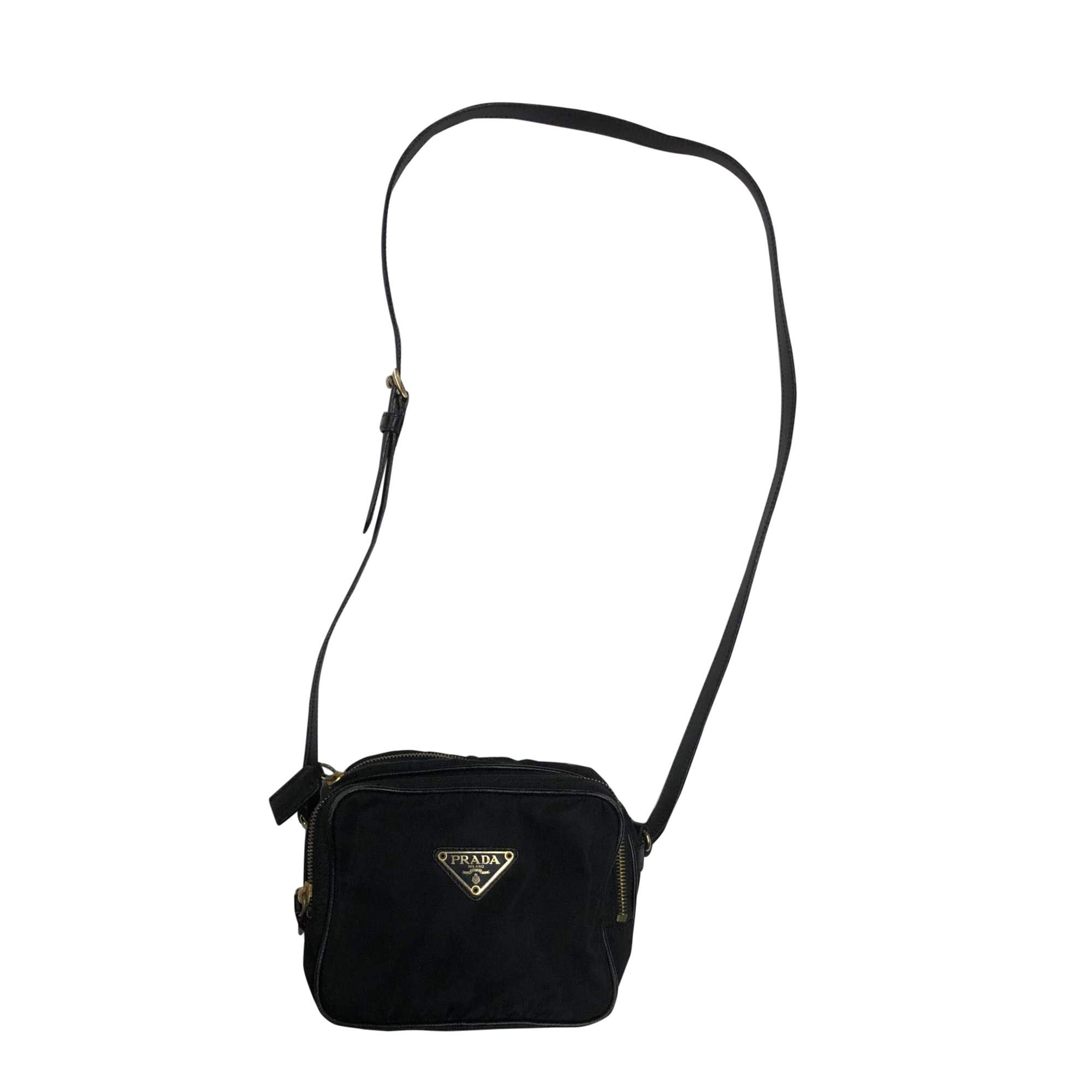 250f2e3dce09 Prada Vintage Black Nylon Crossbody Pouch | The Chic Selection